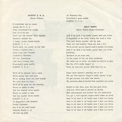 The Beach Boys Japanese Singles