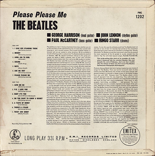 The Beatles U K Guide Lp Parlophone Cover Amp Sleeve