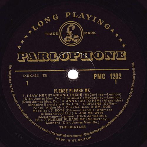 The Beatles U K Guide Lp Parlophone Gold