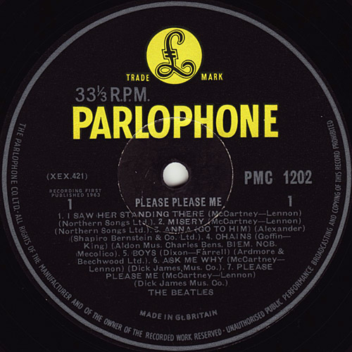 My Personal Record Guide The Beatles Label History 1963 1980