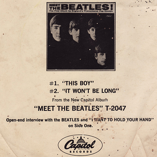 meet the beatles open end interview capitol compact 33 with picture sleeve ex nm ebay. Black Bedroom Furniture Sets. Home Design Ideas